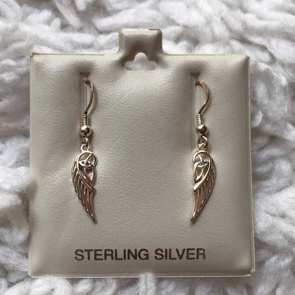 Solvar Jewelry - 👼🏻Trinity Angel Wing Sterling Silver Earrings